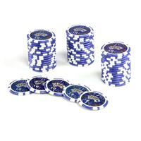 50 Poker-Chips Wert 10 Laserchip 12g Metallkern OCEAN-CHAMPION-CHIP abgerundet