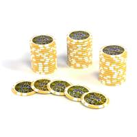 50 Poker-Chips Wert 1000 Laserchip 12g Metallkern OCEAN-CHAMPION-CHIP abgerundet