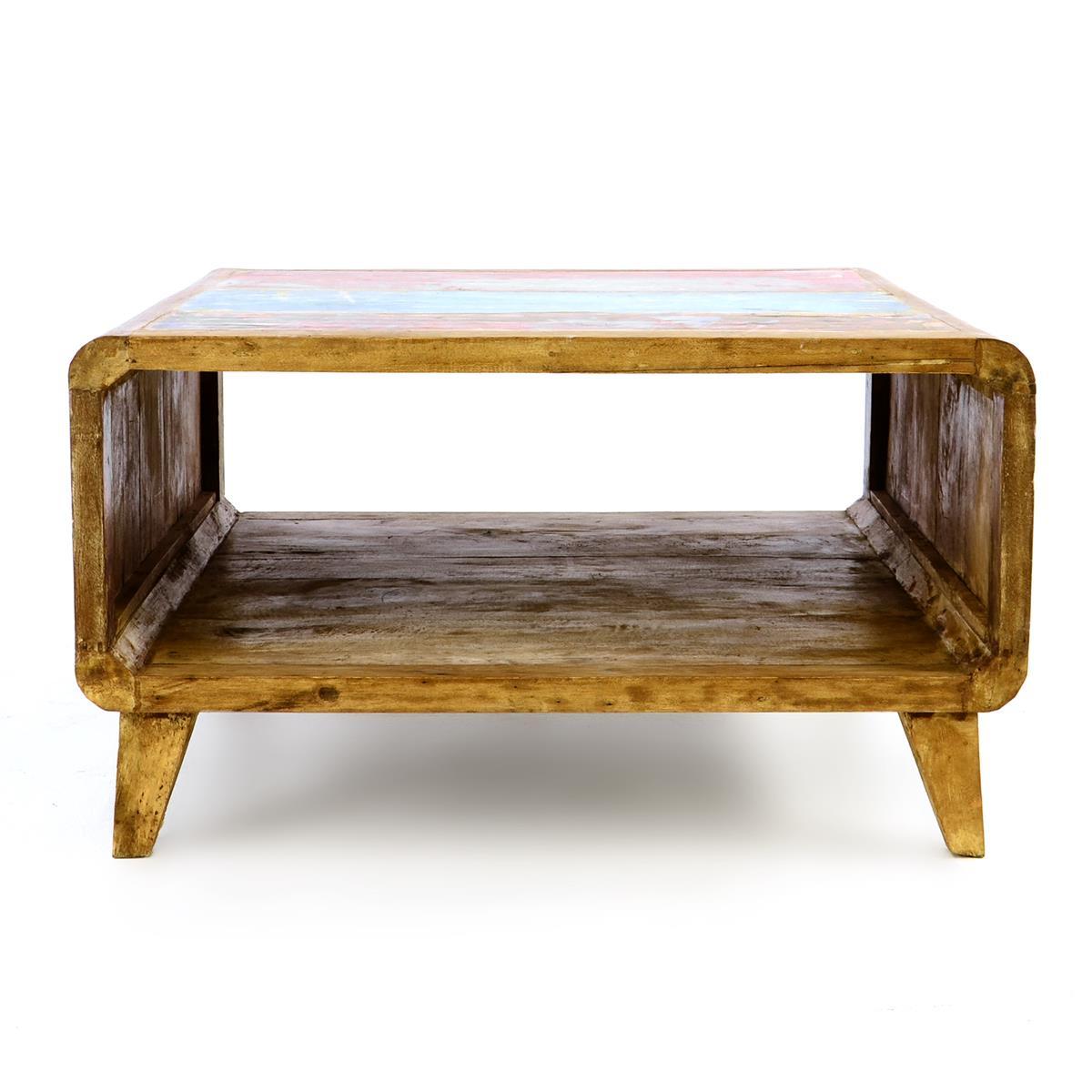 DIVERO Couchtisch TV-Tisch Beistelltisch Möbel Unikat Boots Holz recycelt