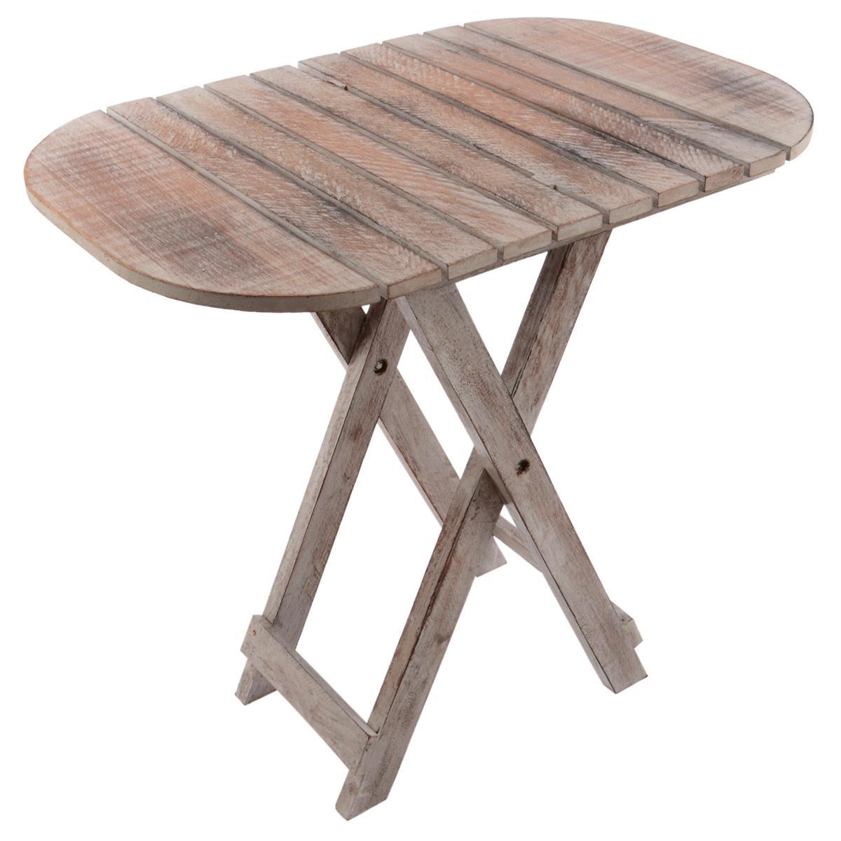 DIVERO Beistelltisch Holztisch Blumentisch Klapptisch Hocker L50 x B38 x H50 cm