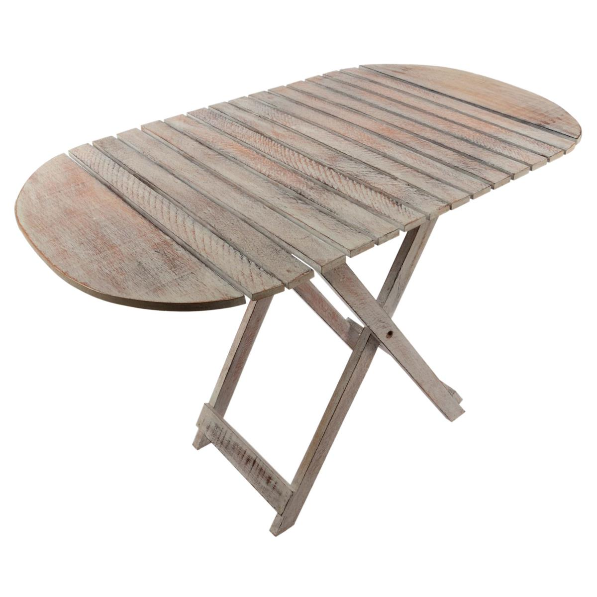 DIVERO Beistelltisch Holztisch Blumentisch Klapptisch Hocker L85 x B50 x H59 cm