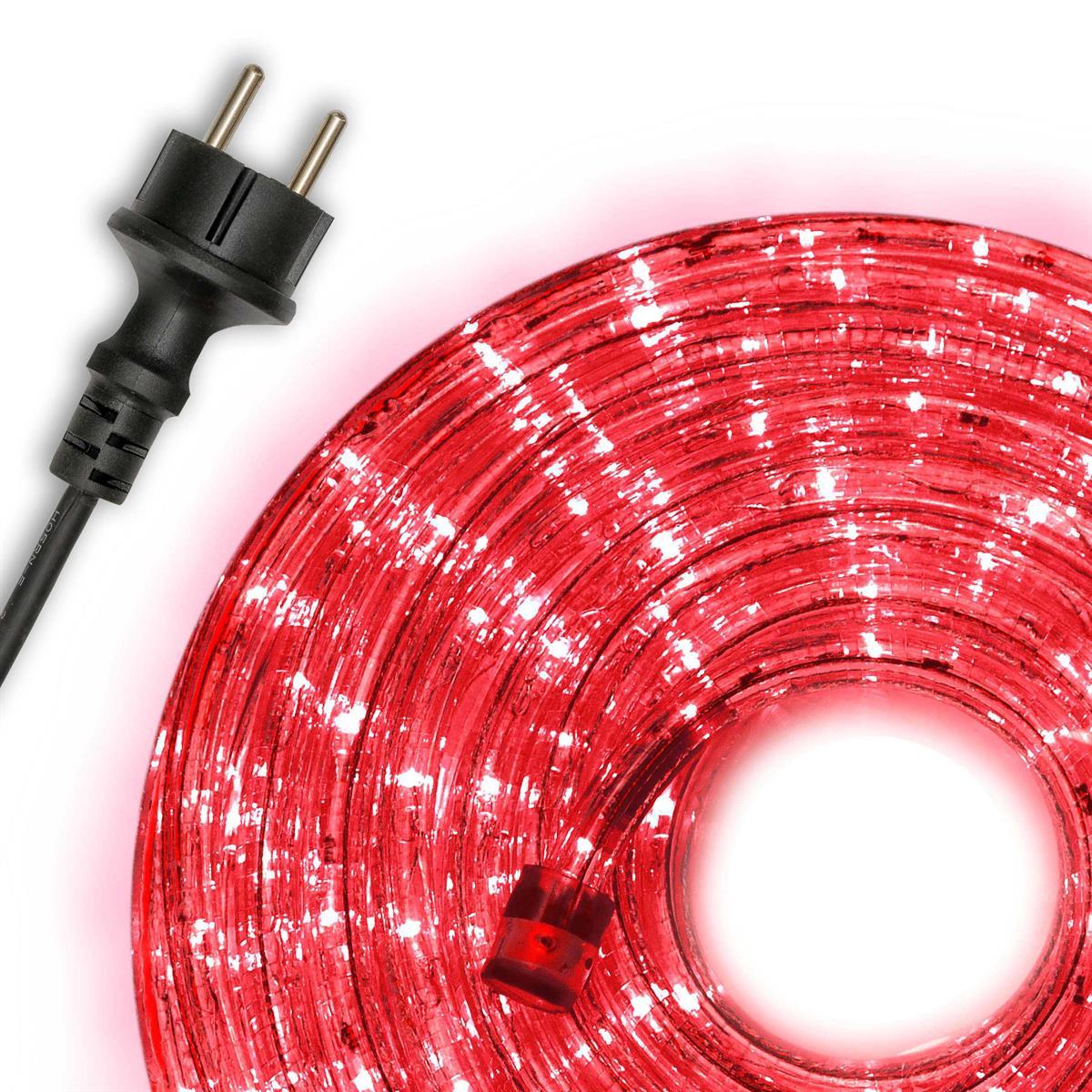 10m LED Lichterschlauch Lichtschlauch rot Innen Außen Weihnachten Partykette