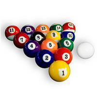 Billardkugeln Billard Pool Kugeln Set hochglanzpoliert Ø 57,2 mm Standardmaß