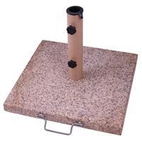 Sonnenschirmständer 20kg Granit altrosa eckig 45 x 45cm Griff für Schirme bis 3m