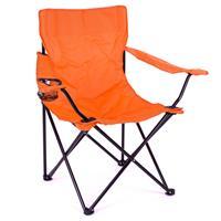 Faltstuhl Campingstuhl mit Armlehne und Getränkehalter orange Angelstuhl