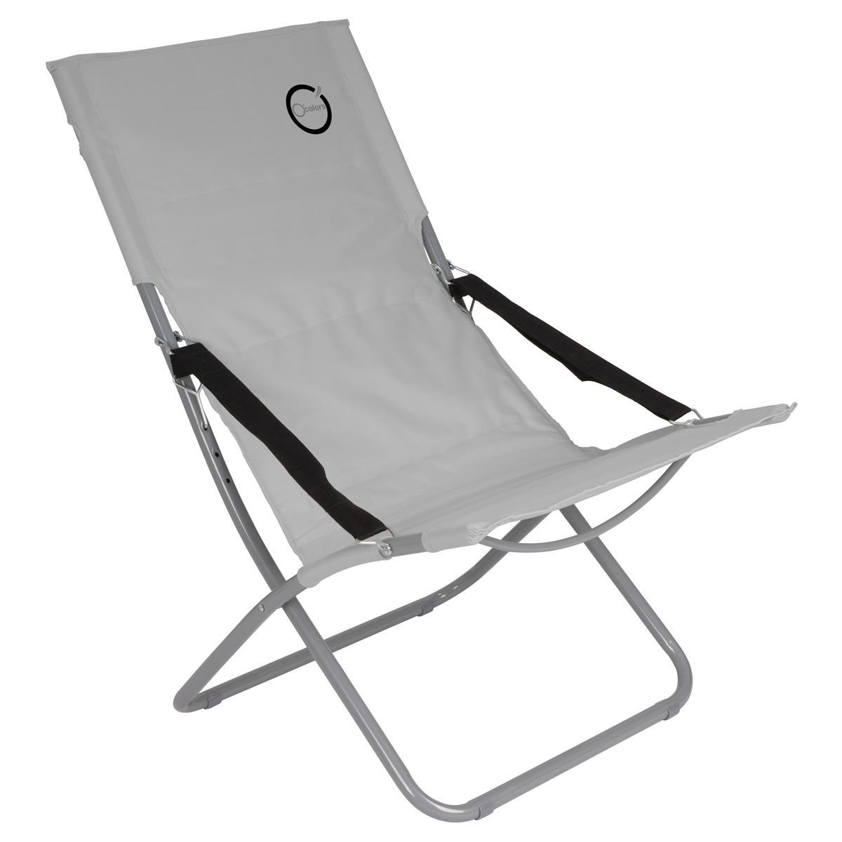 Camping Stuhl Grau klappbar Stahlrohr Gartenstuhl bis 110 kg Sessel Garten