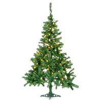 künstlicher Weihnachtsbaum 150 cm mit Ständer und 200 LED Lichterkette Xmas