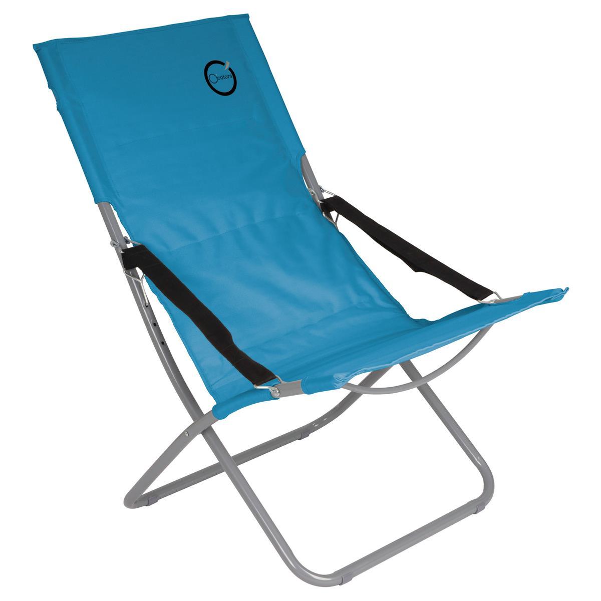 Camping Stuhl Türkis klappbar Stahlrohr Gartenstuhl bis 110 kg Sessel Garten