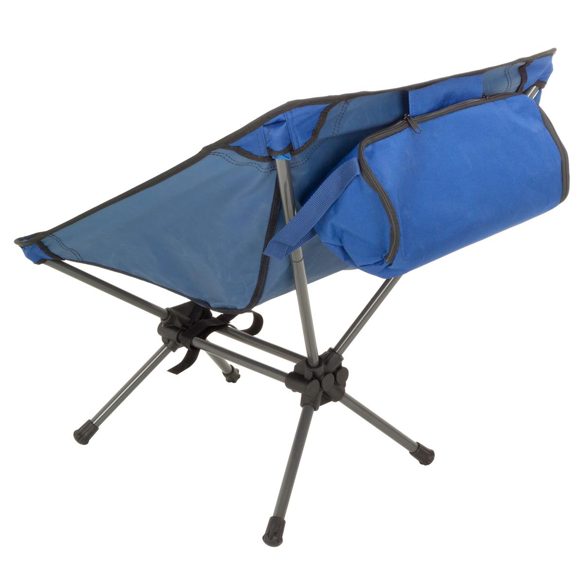 DIVERO Campingsessel Campingstuhl Moonchair Angelsitz blau Polyester Stahl