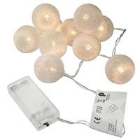 "2er Set 10 LED Lichterkette ""Häkeldesign"" warm weiß Kugel Ø 4 cm Batterie Xmas"