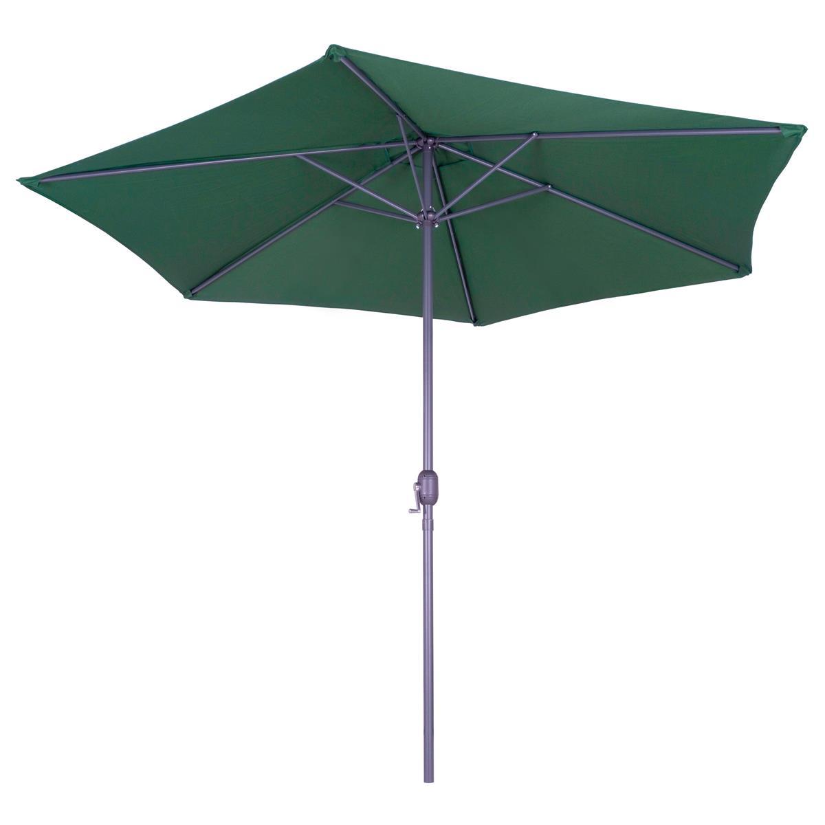 Sonnenschirm 3 m grün mit Kurbel wasserabweisend UV Schutz 50+