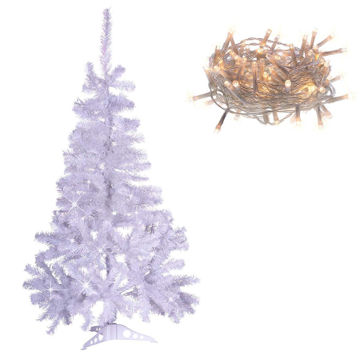"""Weihnachtsbaum """"weiß"""" mit Glitzereffekt - 150 cm Christbaum mit Ständer zzgl. 10"""