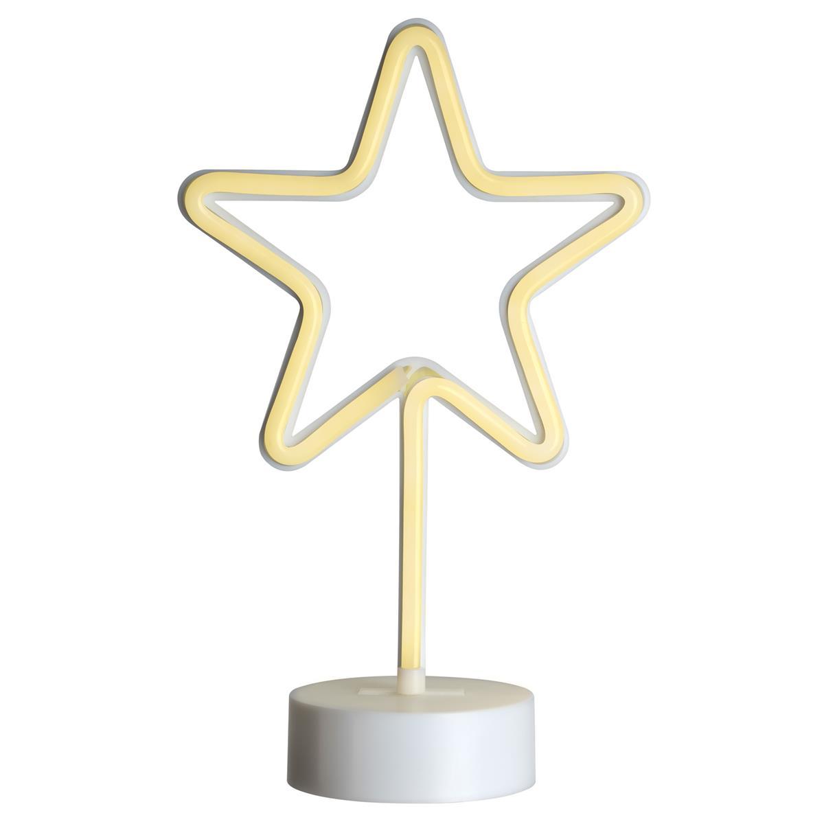Dekoleuchte Neon-Stern Leuchtstern 88 LED warm weiß Batterie Timer