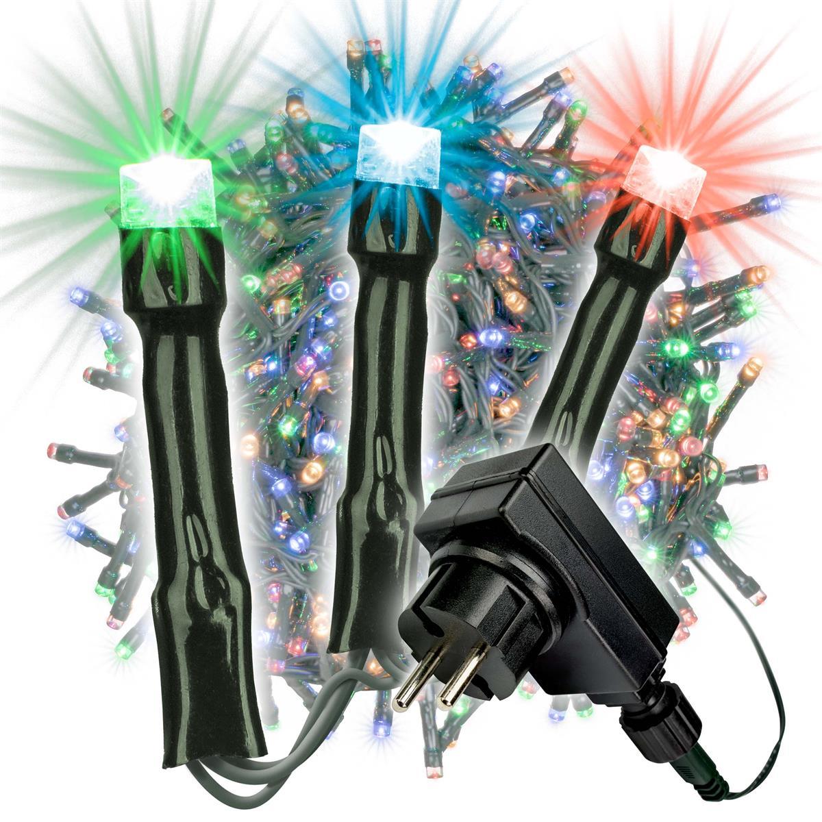 2000 LED Büschellichterkette Cluster bunt Trafo Timer Lichterkette Xmas