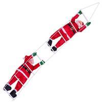 2 x Weihnachtsmann auf Leiter Santa Claus Nikolaus Weihnachtsdeko 210 cm Xmas