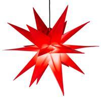 Weihnachtsstern 1 LED warm weiß Farbe ROT 3D Lichter-Stern Dekostern 55 cm
