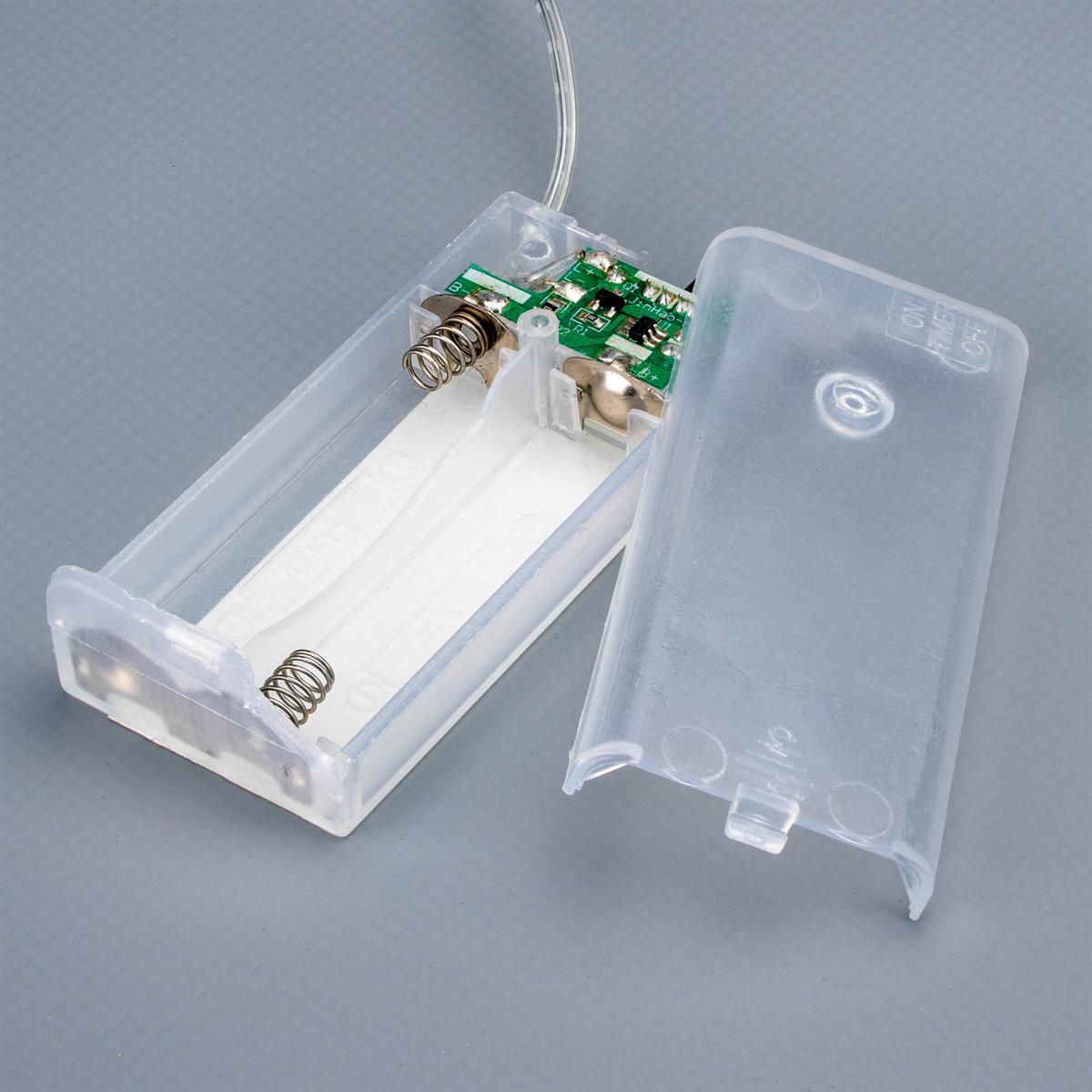 Dekobaum Metall weiß 25 LED warm weiß 42 cm Batterie Timer LichterbaumXmas-Deko