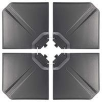 4x Einlegeplatten befüllbar Gewicht für Kreuzfuß-Schirmständer B-WARE