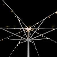 72 LED Solarlichterkette Sonnenschirm warmweiß mit Blinkfunktion