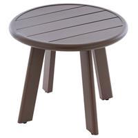 Beistell-Tisch Aluminium Farbe dunkel-braun Terrassentisch Veranda-Tisch  52,5 c