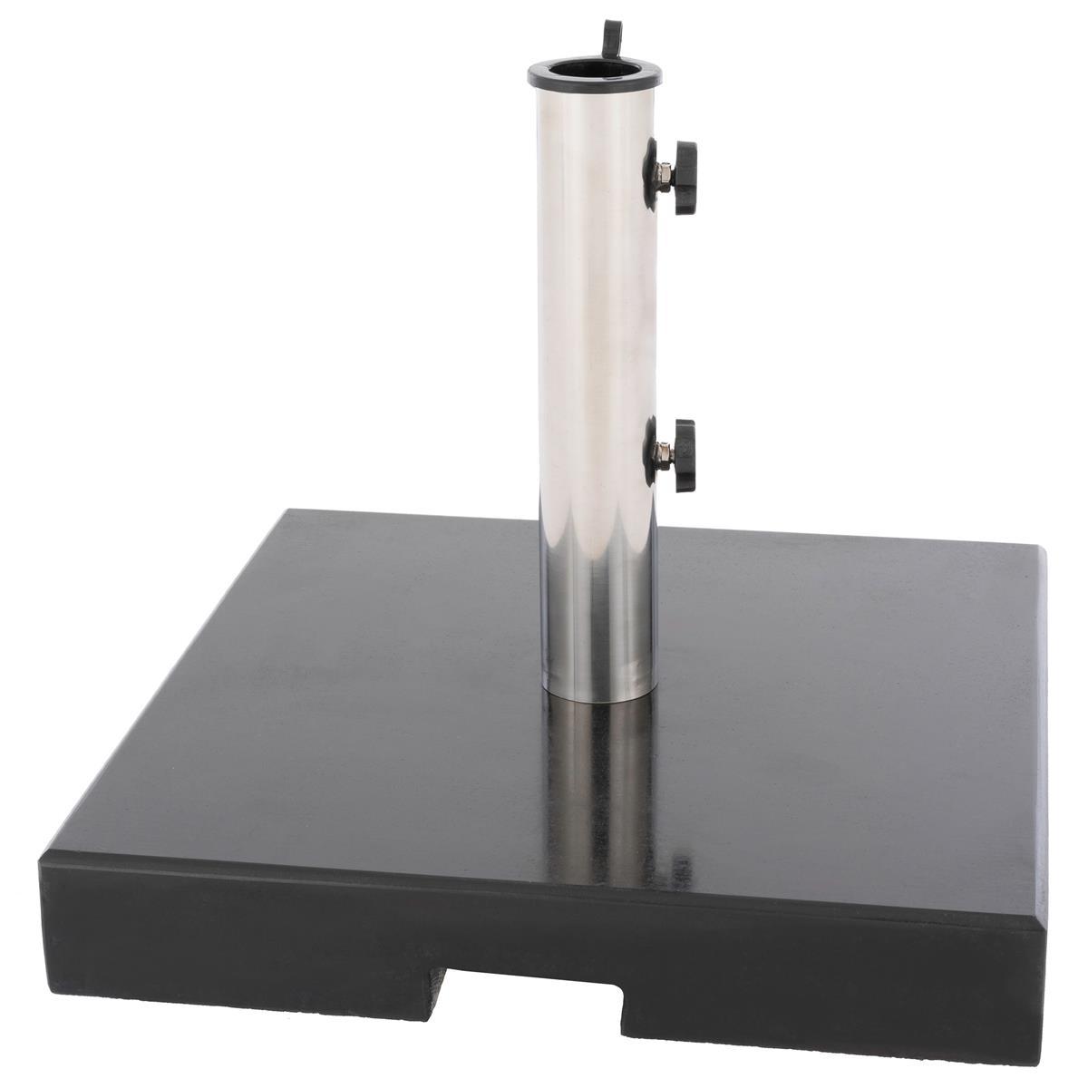 Schirmständer viereckig poliertes Granit mind. 33 kg schwarz gefärbt 43x43x38cm
