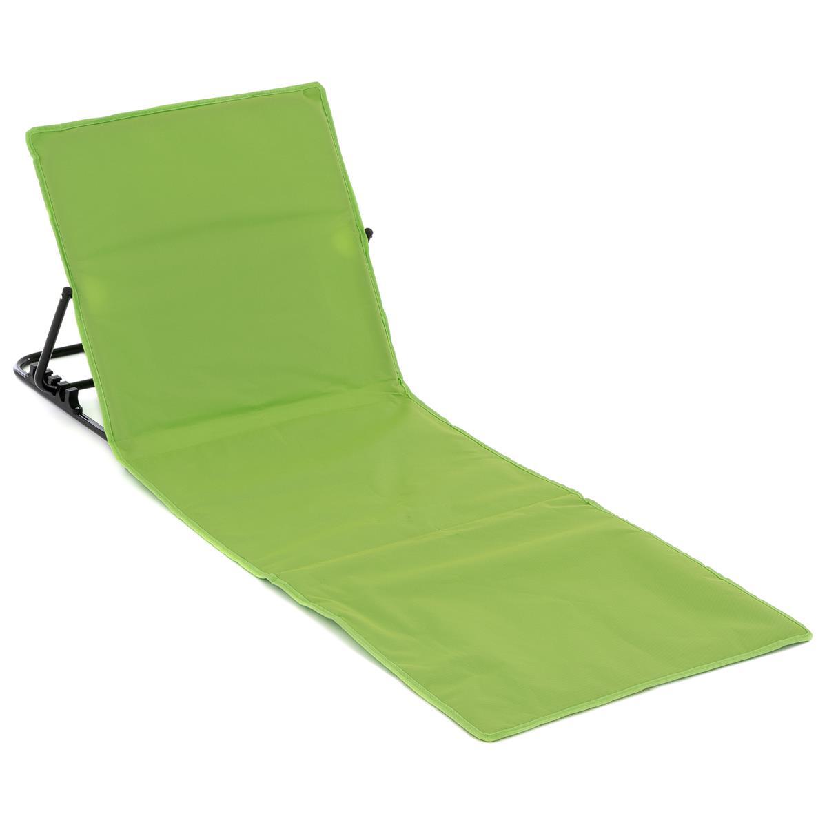 Strandmatte Beachmatte gepolstert faltbar verstellbare Rückenlehne grün