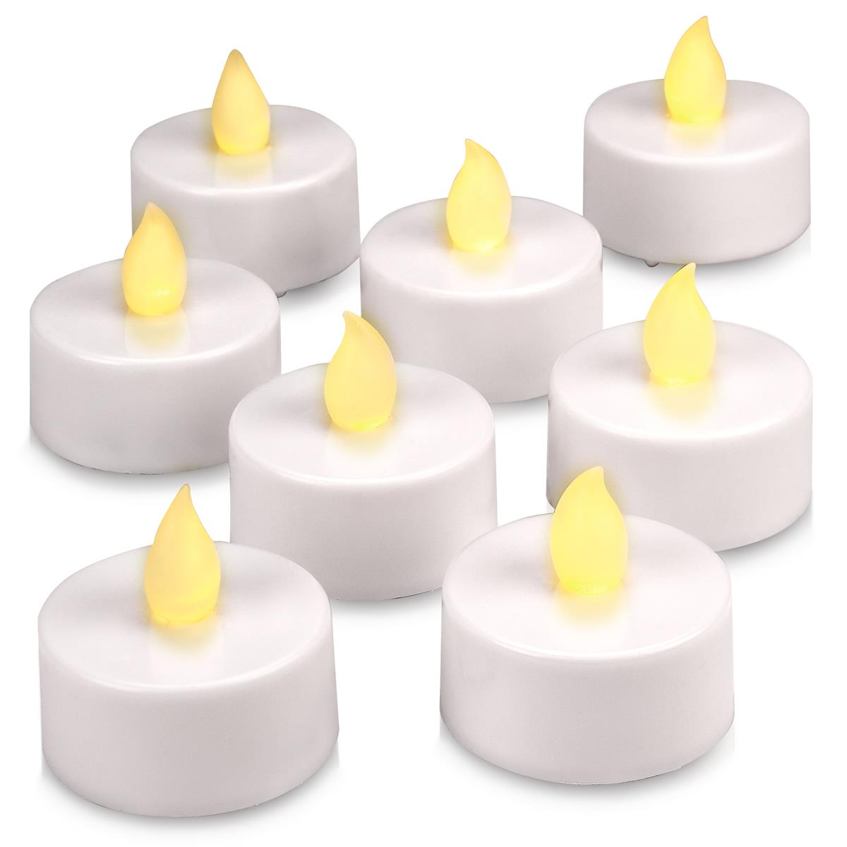 8er Set LED Teelicht weiß batteriebetrieben mit Timer Teelichtkerzen Xmas