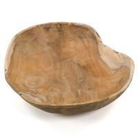 Handgemachte Holzschüssel Obstschüssel aus Teak Holz rund ca. 30 x 30cm