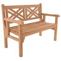 DIVERO 2-Sitzer klappbar Parkbank 120x61x91 faltbar Gartenbank Teak Holz behandelt