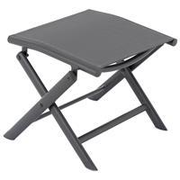 klappbarer Alu Hocker Sitzhocker Rahmen anthrazit Textilene grau Klapphocker