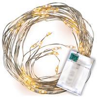 Lichterregen 64 LED warm weiß 8 silberne Drähte mit je 8 LED Timer Lichterkette
