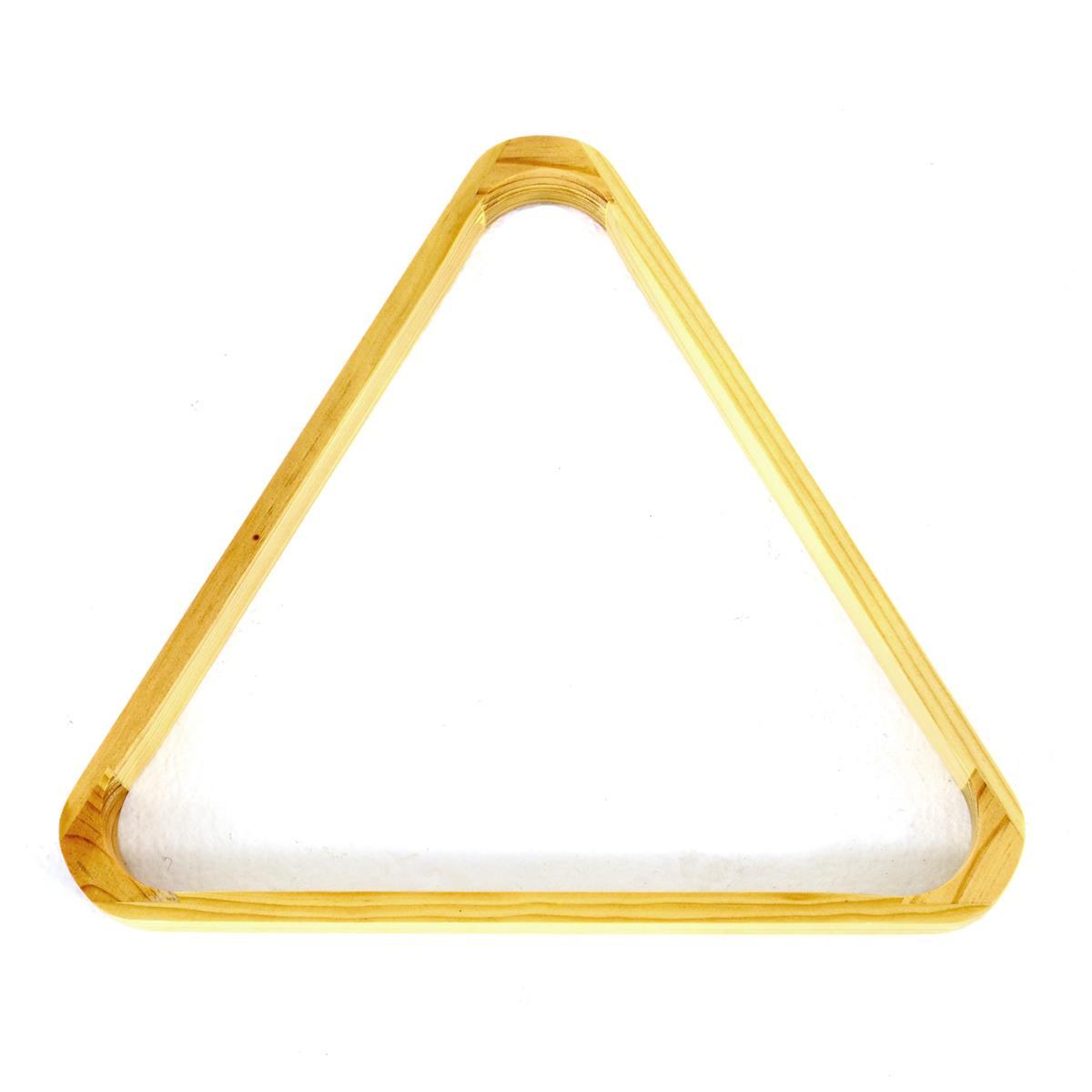 Billard Snooker Pool Dreieck Triangel aus Holz Billardtisch Echtholz natur-braun