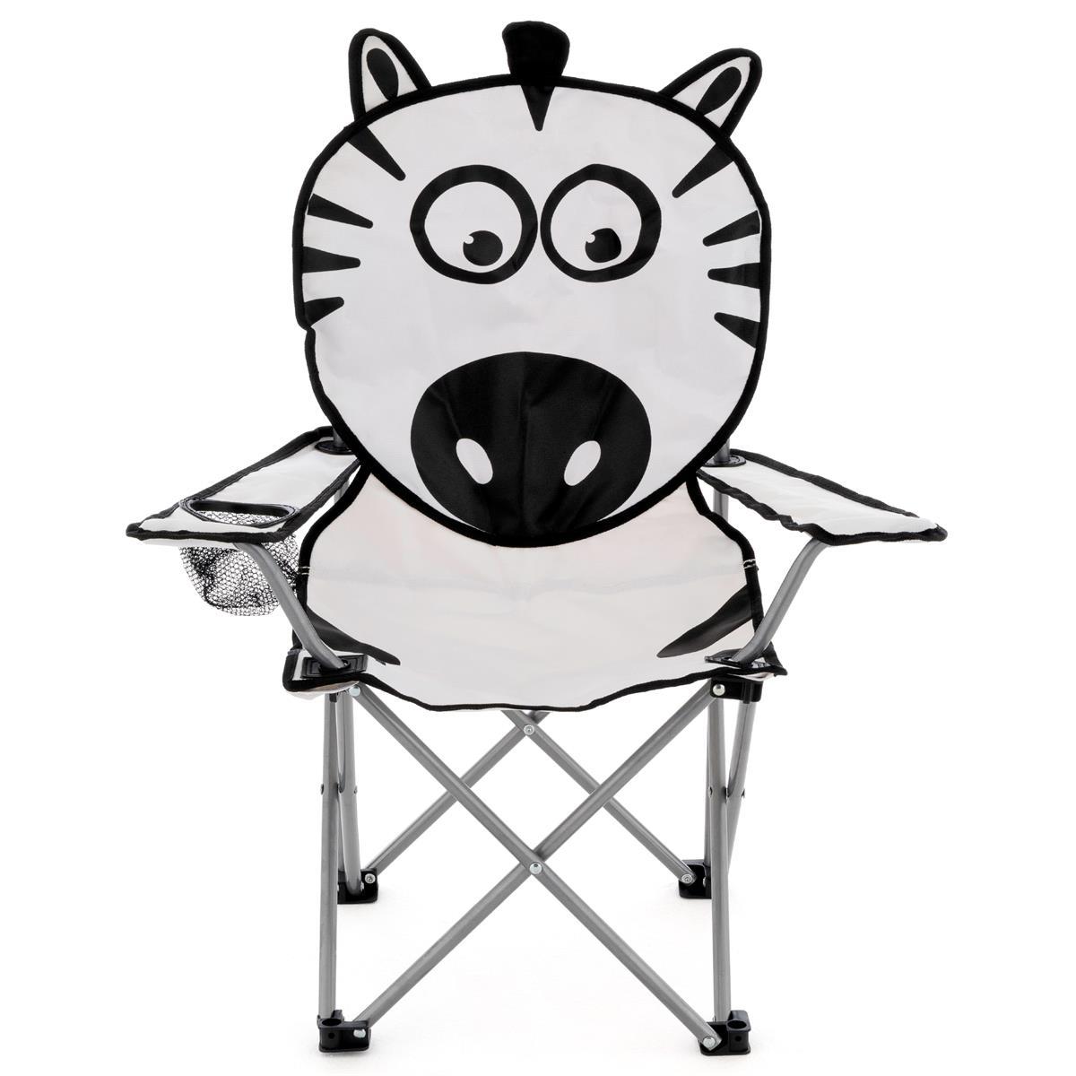 Kinder Campingstuhl Kinderstuhl faltbar lustiges Motiv Zebra