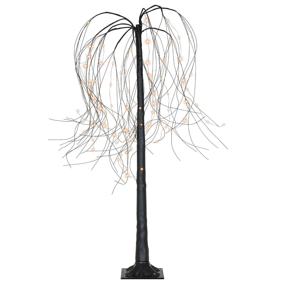 Weidenbaum Deko-Baum Trauerweide 96 LED warm weiß schwarz 150 cm Timer