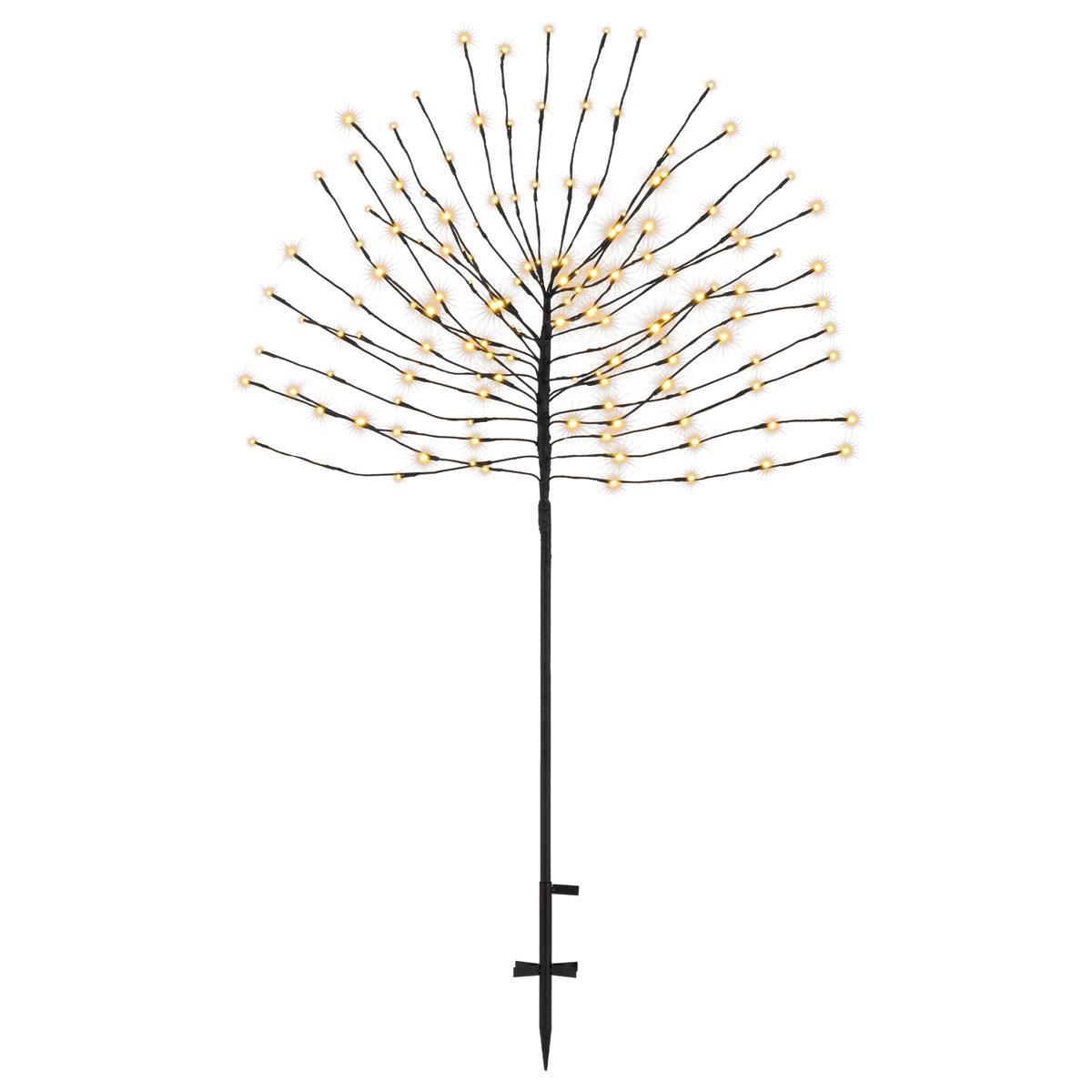 Dekobaum schwarz 140 LED warmweiß Leuchtbaum Lichtbaum Trafo Timer 150 cm
