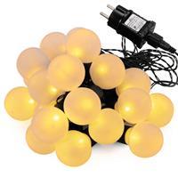 LED Partylichterkette mit 20 Kugeln warm weiß Partybeleuchtung Lichterkette