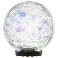 Solarleuchte mit Glaskugel 25 LED mehrfarbig Solarlampe 15 cm