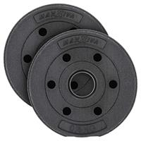 MAXXIVA Hantelscheiben Set Zement 2x0,5kg Gewichte Schwarz Gewichtsscheiben