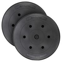 MAXXIVA Hantelscheiben-Set Zement 2x15kg Gewichte schwarz Gewichtsscheiben