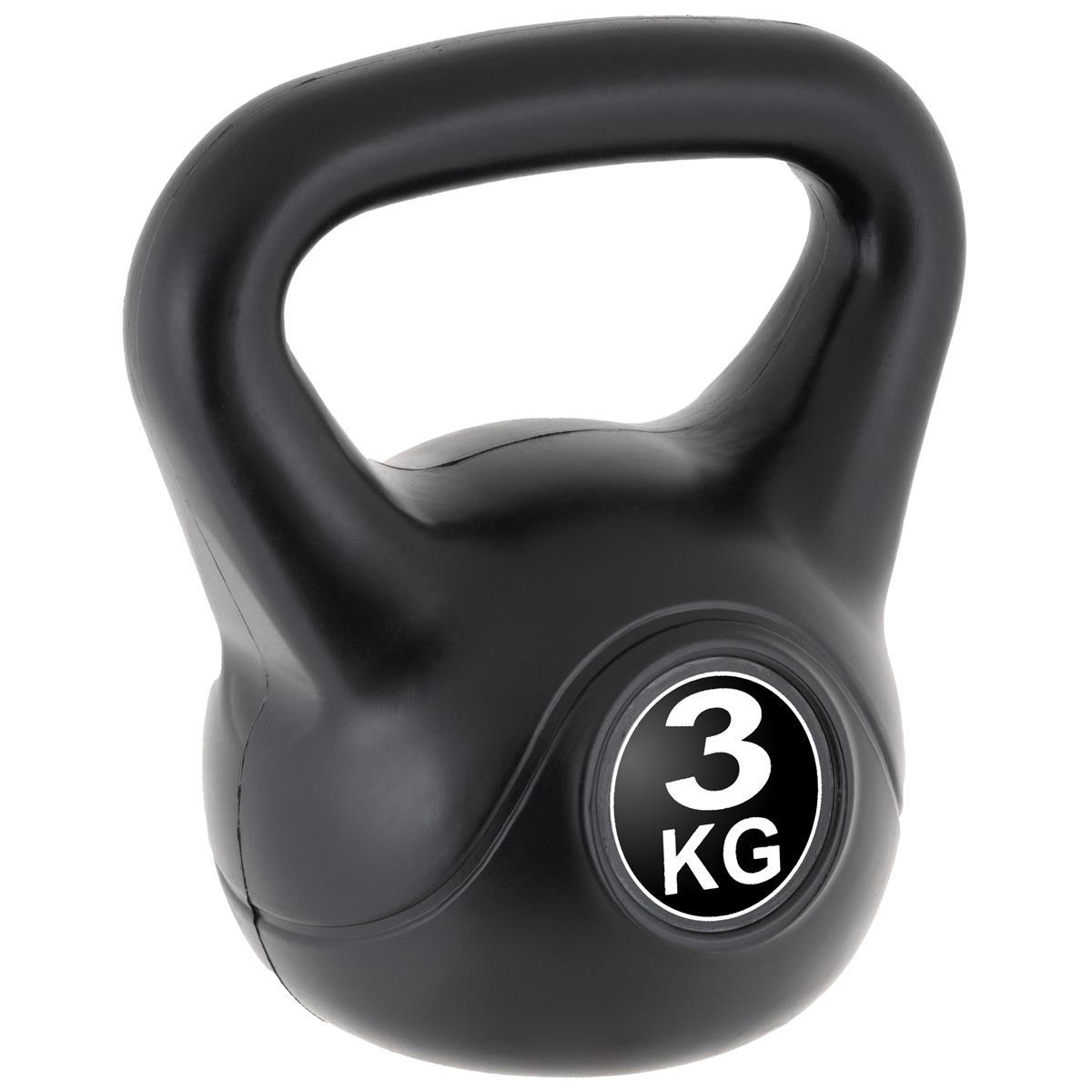 MAXXIVA Kettlebell Kugelhantel 3kg schwarz Krafttraining Fitness Rundhantel
