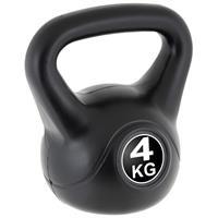 MAXXIVA Kettlebell Kugelhantel 4kg schwarz Krafttraining Fitness Rundhantel