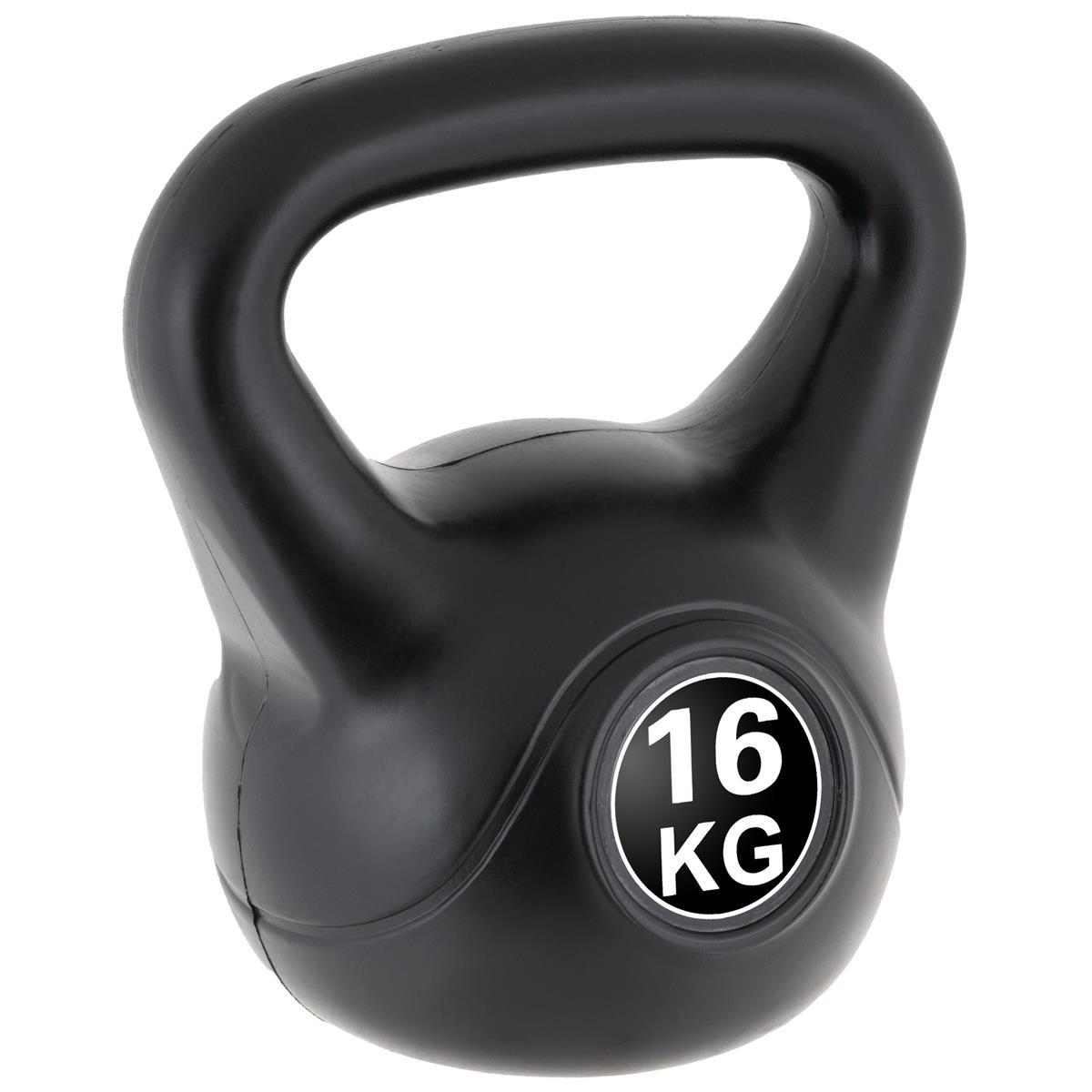 MAXXIVA Kettlebell Kugelhantel 16kg schwarz Krafttraining Fitness Rundhantel