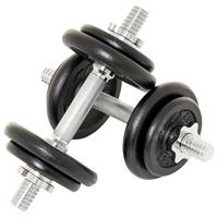 MAXXIVA Kurzhantel Set 2x10 kg Gusseisen 8 Gewichte schwarz Sternverschluss