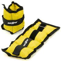 MAXXIVA Gewichtsmanschetten Set 2 x 0,5 kg Laufgewichte Gelb Arm Bein