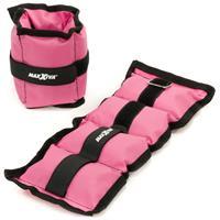 MAXXIVA Gewichtsmanschetten Set 2 x 1 kg Laufgewichte Pink Arm Bein