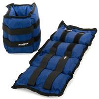 MAXXIVA Gewichtsmanschetten Set 2 x 4,0 kg Laufgewichte Blau Arme Beine