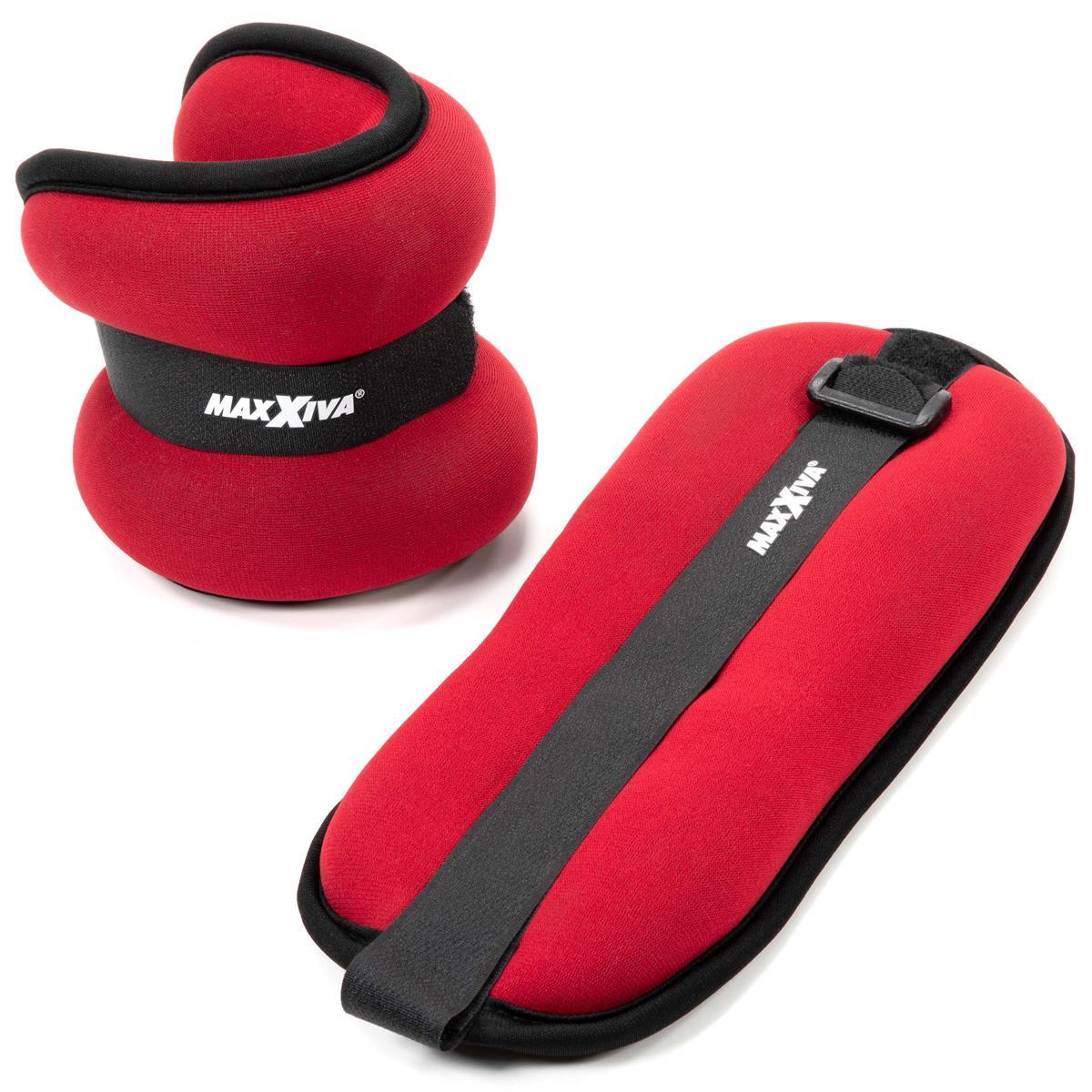 MAXXIVA Laufgewicht Set Rot 2 x 1,5 kg Arme Beine Gewichtsmanschetten