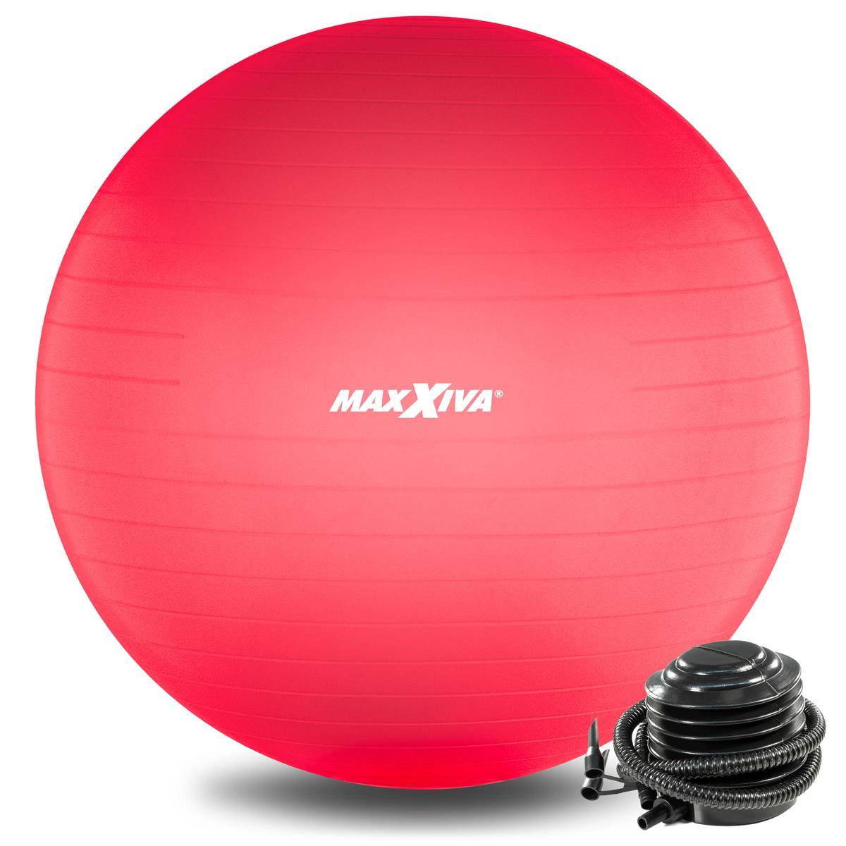 MAXXIVA Gymnastikball Ø 85 cm Rot mit Pumpe Sitzball Fitness Yoga Pilates