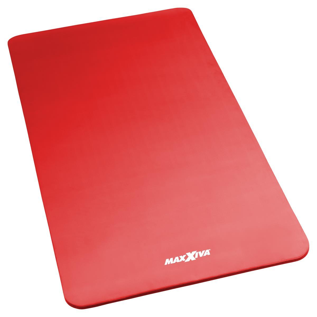MAXXIVA Yogamatte Gymnastikmatte Fitnessmatte 190x100x1,5 cm rot schadstofffrei