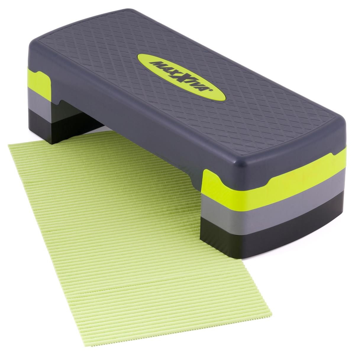 MAXXIVA Stepper Aerobic Fitness Steppbrett Antirutsch-Matte höhenverstellbar